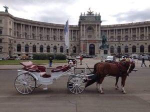 Fiaker in der Hofburg Wien
